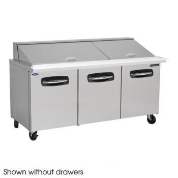 NORNLSMP7230001 - Nor-Lake - NLSMP72-30-001 - AdvantEDGE 6 Drawer 72 in Mega Top Prep Table Product Image