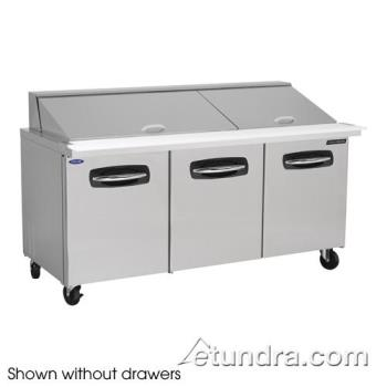 NORNLSMP7230002 - Nor-Lake - NLSMP72-30-002 - AdvantEDGE 2 Drawer 72 in Mega Top Prep Table w/Left & Center Doors Product Image