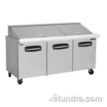 NORNLSMP7230 - Nor-Lake - NLSMP72-30 - AdvantEDGE 3 Door 72 in Mega Top Prep Table Product Image