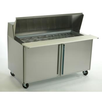 SILSKP6024 - Silver King - SKP6024/C2 - 2 Door Mega Top Sandwich / Salad Prep Table Product Image