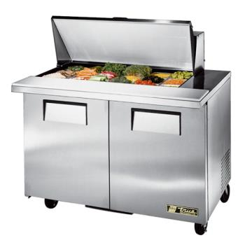 "TRUTSSU4818MB - True - TSSU-48-18M-B - Mega Top 2 Door 48"" Sandwich Prep Table Product Image"