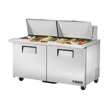 "TRUTSSU6024MBST - True - TSSU-60-24M-B-ST - Mega Top 2 Door 60"" Sandwich Prep Table Product Image"