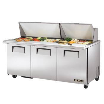 TRUTSSU7230MBST - True - TSSU-72-30M-B-ST - Mega Top 3 Door Sandwich Prep Table Product Image