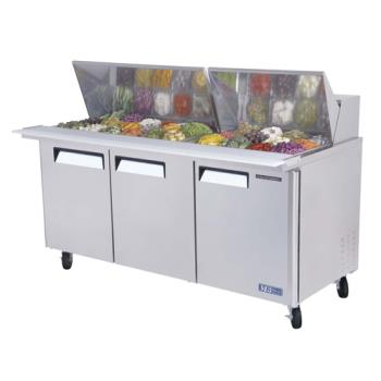 TURMST7230 - Turbo Air - MST-72-30 - M3 Series Mega Top 3 Door Sandwich Prep Table Product Image