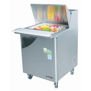 TURTST28SD12 - Turbo Air - TST-28SD-12 - Super Deluxe 1 Door Mega Top Sandwich Prep Table Product Image