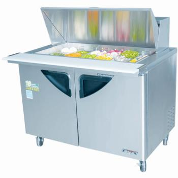 "TURTST48SD18 - Turbo Air - TST-48SD-18 - Super Deluxe 2 Door 48"" Mega Top Sandwich Prep Table Product Image"
