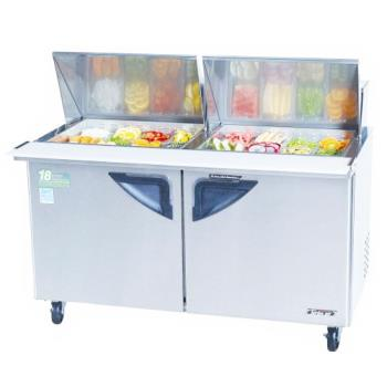 TURTST60SD24 - Turbo Air - TST-60SD-24 - Super Deluxe 2 Door 60 in  Mega Top Sandwich Prep Table Product Image