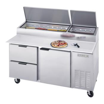 BEVDPD67HC2 - Beverage Air - DPD67HC-2 - 67 in S/S 2 Drawer Pizza Prep Table Product Image