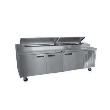 DEL18691PTBM - Delfield - 18691PTBMP - 91 in Refrigerated Pizza Prep Table Product Image