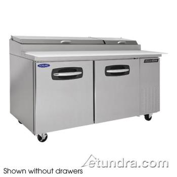 NORNLPT67002 - Nor-Lake - NLPT67-002 - AdvantEDGE 2 Drawer 67 in Pizza Prep Table w/Left Door Product Image