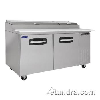 NORNLPT67 - Nor-Lake - NLPT67 - AdvantEDGE 2 Door 67 in Pizza Prep Table Product Image