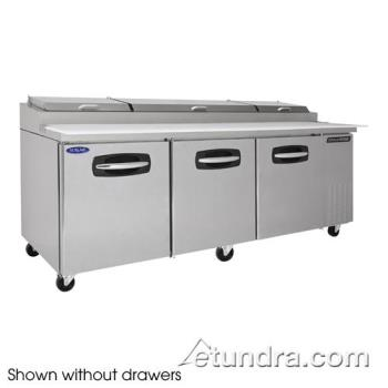 NORNLPT93003 - Nor-Lake - NLPT93-003 - AdvantEDGE 2 Drawer 93 in Pizza Prep Table w/Right & Center Doors Product Image