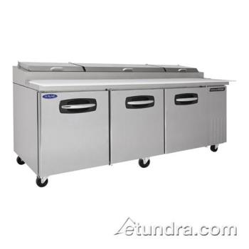 NORNLPT93 - Nor-Lake - NLPT93 - AdvantEDGE 3 Door 93 in Pizza Prep Table Product Image