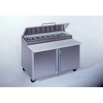 SILSKPZ60 - Silver King - SKPZ60/C10 - 2 Door Refrigerated Pizza Prep Table Product Image