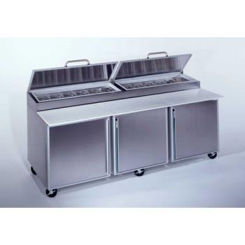SILSKPZ92 - Silver King - SKPZ92/C10 - 3 Door Refrigerated Pizza Prep Table Product Image