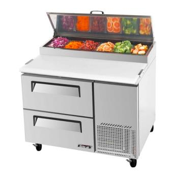TURTPR44SDD2 - Turbo Air - TPR-44SD-D2 - 44 in 2 Drawer Pizza Prep Table Product Image