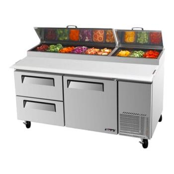 TURTPR67SDD2 - Turbo Air - TPR-67SD-D2 - 67 in 2 Drawer Pizza Prep Table Product Image