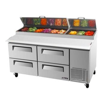 TURTPR67SDD4 - Turbo Air - TPR-67SD-D4 - 67 in 4 Drawer Pizza Prep Table Product Image