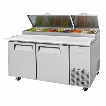 TURTPR67SDN - Turbo Air - TPR-67SD-N - 67 in 2 Door Super Deluxe Pizza Prep Table Product Image