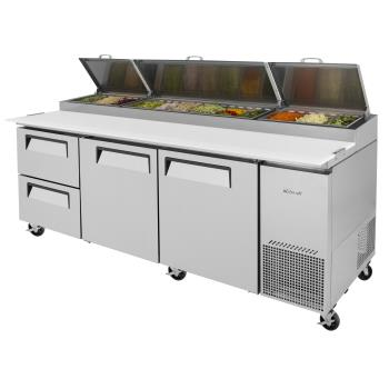 TURTPR93SDD2N - Turbo Air - TPR-93SD-D2-N - 93 in 2 Drawer 2 Door Super Deluxe Pizza Prep Table Product Image