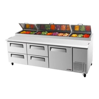 TURTPR93SDD4 - Turbo Air - TPR-93SD-D4 - 93 in 4 Drawer Pizza Prep Table Product Image