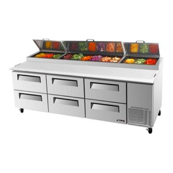 TURTPR93SDD6 - Turbo Air - TPR-93SD-D6 - 93 in 6 Drawer Pizza Prep Table Product Image