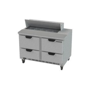 BEVSPED48HC104 - Beverage Air - SPED48HC-10-4 - 48 in 4 Drawer Prep Table Product Image