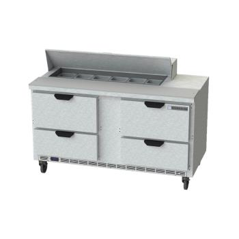 BEVSPED60HC124 - Beverage Air - SPED60HC-12-4 - 60 in 4 Drawer Prep Table Product Image