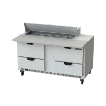 BEVSPED60HC12C4 - Beverage Air - SPED60HC-12C-4 - 60 in 4 Drawer Cutting Top Prep Table Product Image