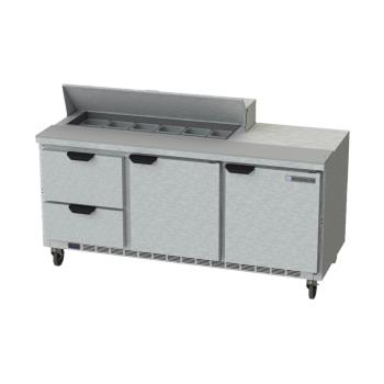 BEVSPED72HC122 - Beverage Air - SPED72HC-12-2 - 72 in 2 Drawer Prep Table Product Image