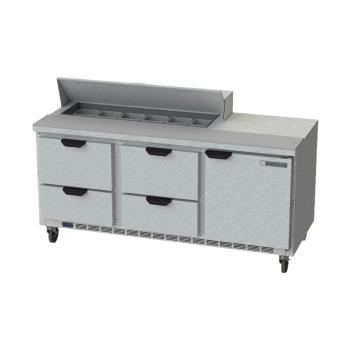 BEVSPED72HC124 - Beverage Air - SPED72HC-12-4 - 72 in 4 Drawer Prep Table Product Image