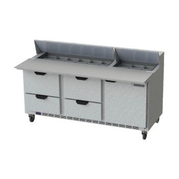 BEVSPED72HC18C4 - Beverage Air - SPED72HC-18C-4 - 72 in 4 Drawer Cutting Top Prep Table Product Image