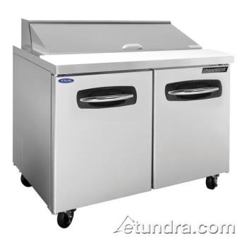 NORNLSP4812 - Nor-Lake - NLSP48-12 - AdvantEDGE 2 Door 48 in Sandwich Prep Table Product Image