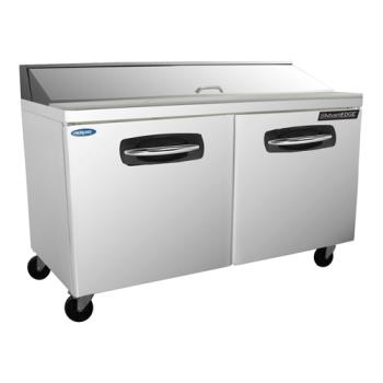 NORNLSP6016 - Nor-Lake - NLSP60-16 - AdvantEDGE 2 Door 60 in Sandwich Prep Table Product Image