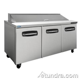 NORNLSP7218 - Nor-Lake - NLSP72-18 - AdvantEDGE 3 Door 72 in Sandwich Prep Table Product Image