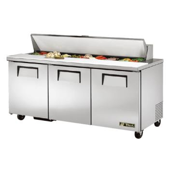 TRUTSSU7218 - True - TSSU-72-18 - 3 Door Sandwich Prep Table Product Image