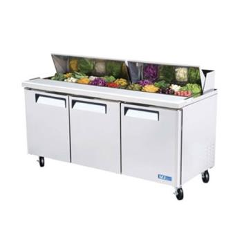 TURMST72 - Turbo Air - MST-72 - M3 Series 3 Door Sandwich Prep Table Product Image