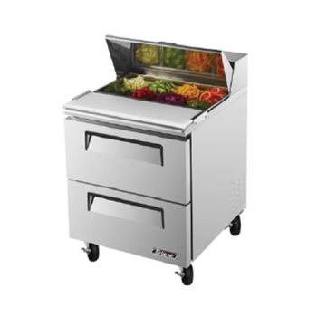TURTST28SDD2 - Turbo Air - TST-28SD-D2 - Super Deluxe 24 in Prep Unit w/2 Drawers Product Image