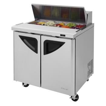 TURTST36SDN6 - Turbo Air - TST-36SD-N6 - Super Deluxe 2-Door 36 in Sandwich Prep Table Product Image