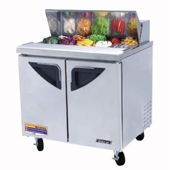 "TURTST36SD - Turbo Air - TST-36SD - Super Deluxe 2 Door 36"" Sandwich Prep Table Product Image"