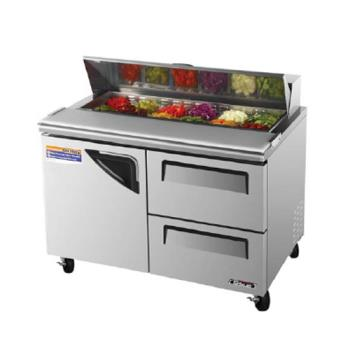 TURTST48SDD2 - Turbo Air - TST-48SD-D2 - Super Deluxe Series 48 in Prep Unit w/2 Drawers Product Image