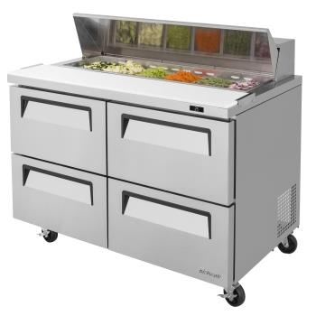 TURTST48SDD4N - Turbo Air - TST-48SD-D4-N - Super Deluxe 4-Drawer 48 in Prep Unit Product Image
