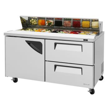TURTST60SDD2N - Turbo Air - TST-60SD-D2-N - Super Deluxe 2-Drawer 60 in Prep Unit Product Image