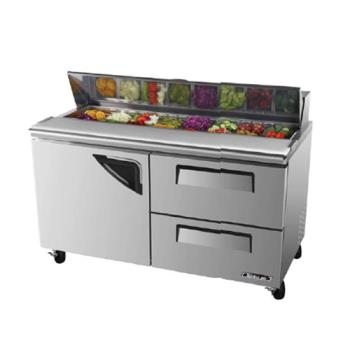 TURTST60SDD2 - Turbo Air - TST-60SD-D2 - Super Deluxe Series 60 in Prep Unit w/2 Drawers Product Image