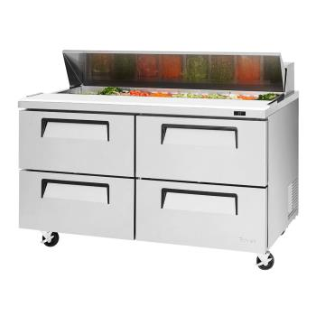 TURTST60SDD4N - Turbo Air - TST-60SD-D4-N - Super Deluxe 4-Drawer 60 in Prep Unit Product Image