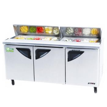 TURTST72SD - Turbo Air - TST-72SD - Super Deluxe 3 Door Sandwich Prep Table Product Image