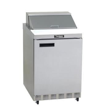 DEL4427N6 - Delfield - 4427N-6 - 3 Section 27 1/8 in Salad Top Refrigerated Base w/ Doors Product Image