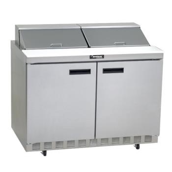DEL4448N12 - Delfield - 4448N-12 - 2 Section 48 1/8 in Salad Top Refrigerated Base w/ Doors Product Image