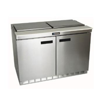 DEL4448N - Delfield - 4448N - 2 Section 48 1/8 in Flat Top Refrigerated Base w/ Doors Product Image