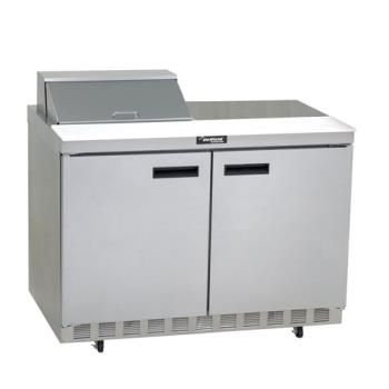 DEL4448N8 - Delfield - 4448N-8 - 2 Section 48 1/8 in Salad Top Refrigerated Base w/ Doors Product Image